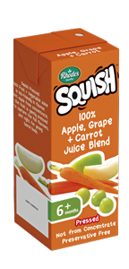 100% Apple, Grape + Carrot Juice