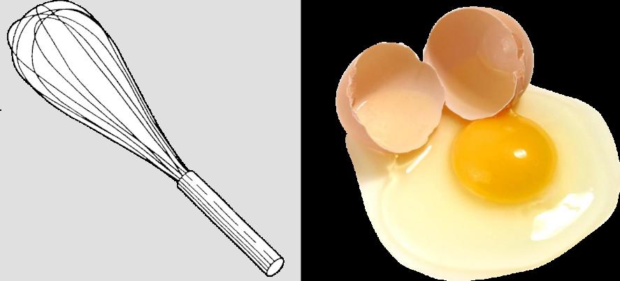 Whisk and Broken egg