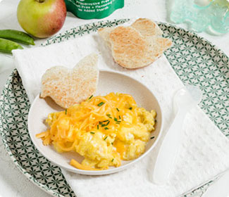 Cheesy Mixed Vegetable Egg Scramble
